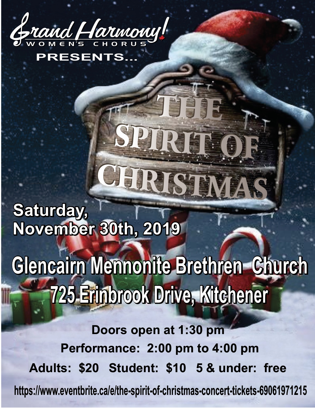 Grand Harmony Spirit of Christmas Concert